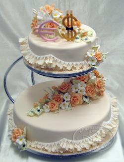 свадебный торт «Будьте здоровы живите богато...»